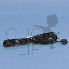 *K Sender für Zelle Kabel schwarz 5 Meter