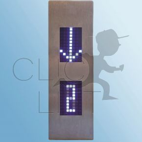 Anzeigetableau LCD 2 Zoll SAF ATV ohne Lautsprecher Befestigung mit BolzenAbmessungen 58x185 mm