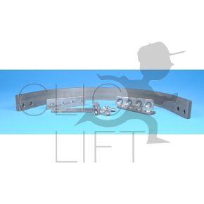 gebogene Schiene oben HP30 + Schiene