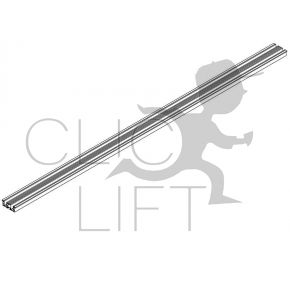 Aluminum threshold SD20 cabin and bearing PL 1300 2 leaves telescopic opening 90x30x1990